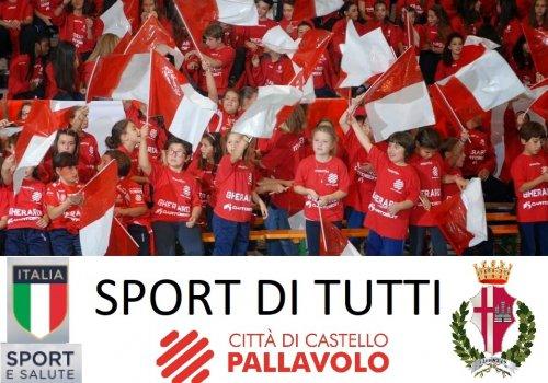 FINALMENTE SI RIPARTE........... CITTA' DI CASTELLO PALLAVOLO - SETTORE GIOVANILEfemminile