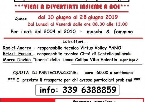 VOLLEY CAMP 2019 PALLAVOLO CITTA' DI CASTELLO