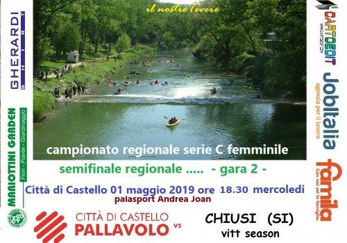 serie C femminile - gara 2 di semifinale regionale